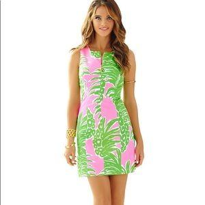 Lilly Pulitzer Mila Shift Dress Size 2 Green Pink